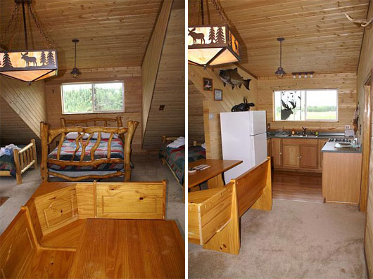 Small cabin decorating ideas and design plans02 - Interior pictures of small log cabins ...
