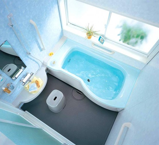 Small bathroom on tight budget for Tight bathroom design