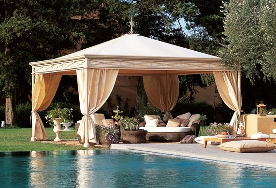 luxury gazebo with curtains 3