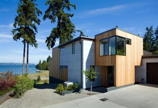 Modern beach house materials in seattle for Beach house construction materials