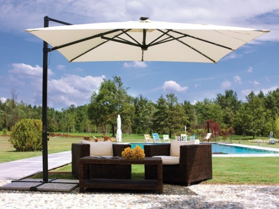 9' Solar Lighted Market Umbrella | Solar Umbrella - American Sale