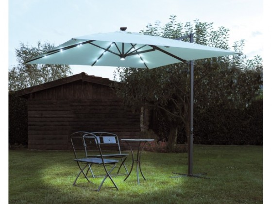 LED Light Umbrella - Black with Blue Lighted Rod: Everything Else