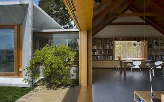 Trial Bay House Elegant Wood and Concrete