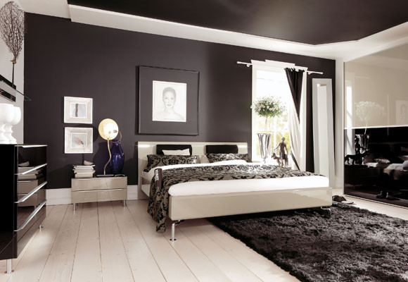 Bedroom Design-Black and white - An aspect of black and white ...