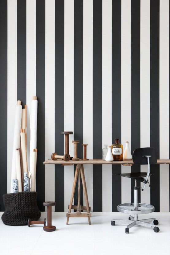 10 cool black and white wallpapers for Black and white room wallpaper