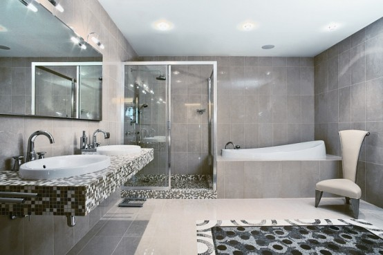 Modern Apartment Bathroom modern apartment with african elements of decor
