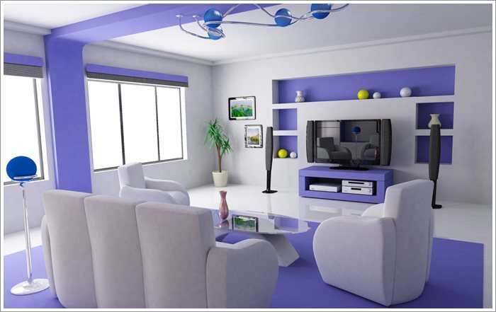 Living Room Design With LCD Unit Pictures 05