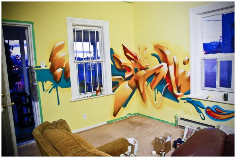 Graffiti In Home Decoration Pictures 11