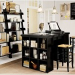 Home Office Design With Open Shelves