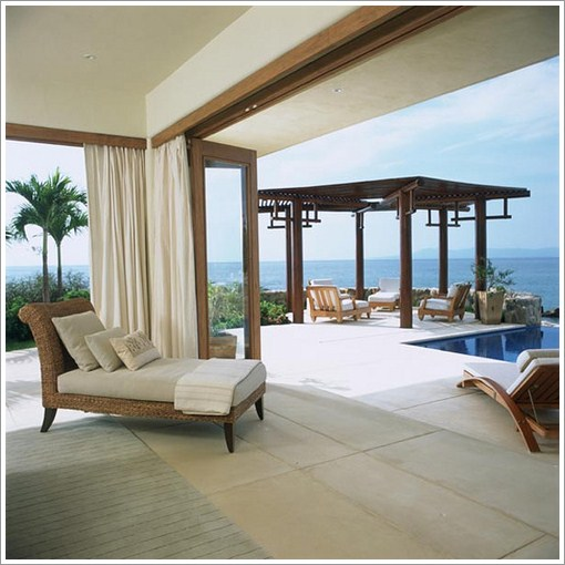 Modern beach house design puerto vallarca mexico pictures for Beach house designs interior