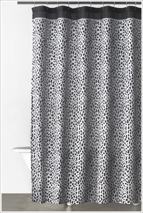 Donna Karan Bathroom Accessories - Cheetah Animal Print Bath Curtain