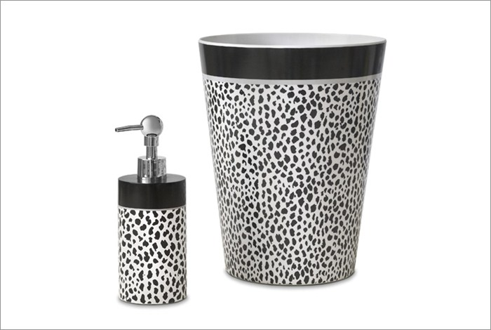 Donna Karan Bathroom Accessories - Cheetah Animal Print Wastebasket