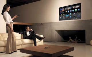 smart tv living room