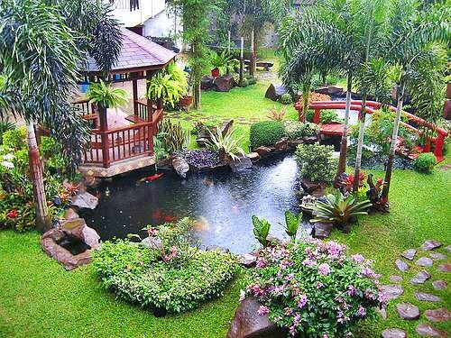 Garden water features backyard landscaping ideas for Water garden landscaping