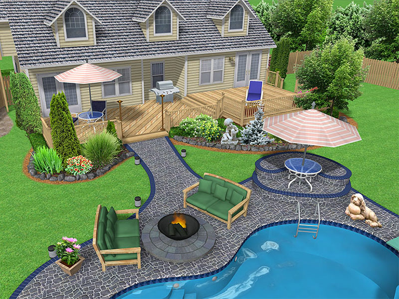 Backyard landscaping ideas with swimming pools 2015 best for Best backyard landscaping ideas
