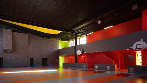 MODERN SPORTS CENTER INTERIOR DESIGNED BY KOZ ARCHITECTS