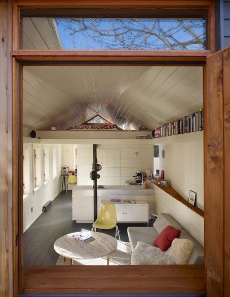 A Contemporary Mini Studio In The Garage Homeexteriorinterior Com