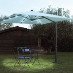 Outdoor LED Lights Umbrellas Solar Energy