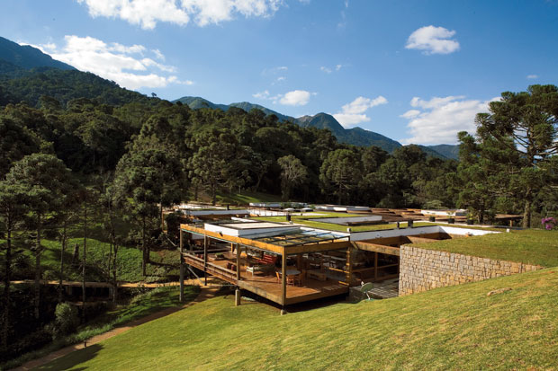 Landscape plans in the mountains of tropical Mantiqueira Mountains in the state of Sao Paulo