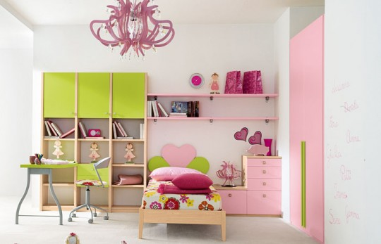 Colored Bedroom For Girls