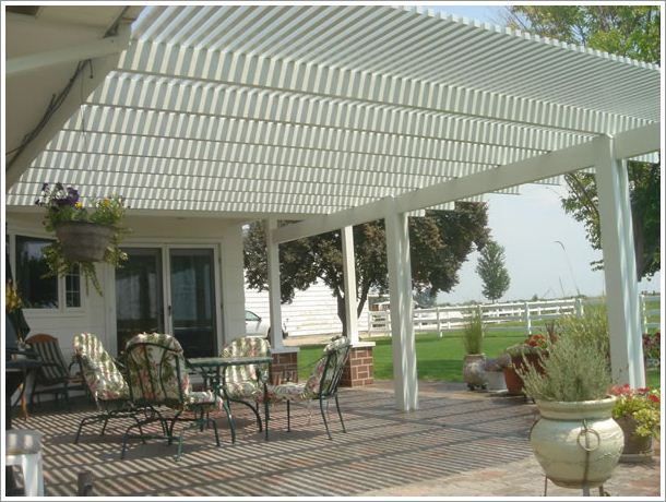 Patio with shade covering Pictures -02