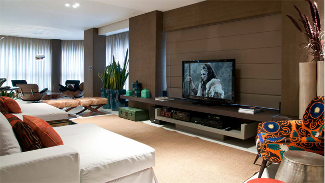 Sophisticated Interior Design Home Theater