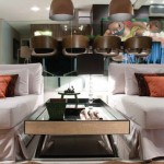 Sophisticated interior design-mirror table