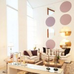 White lacquer living room