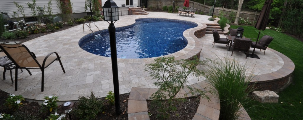 Pool decorations for large backyard